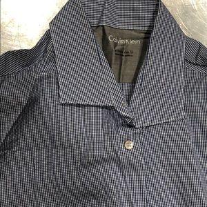 Calvin Klein button down shirt blue checkers